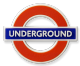 London Underground Sign,  'Underground'  Rubber Fridge Magnet (GWC)